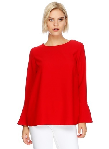 Beymen Studio İspanyol Kol Bluz Kırmızı
